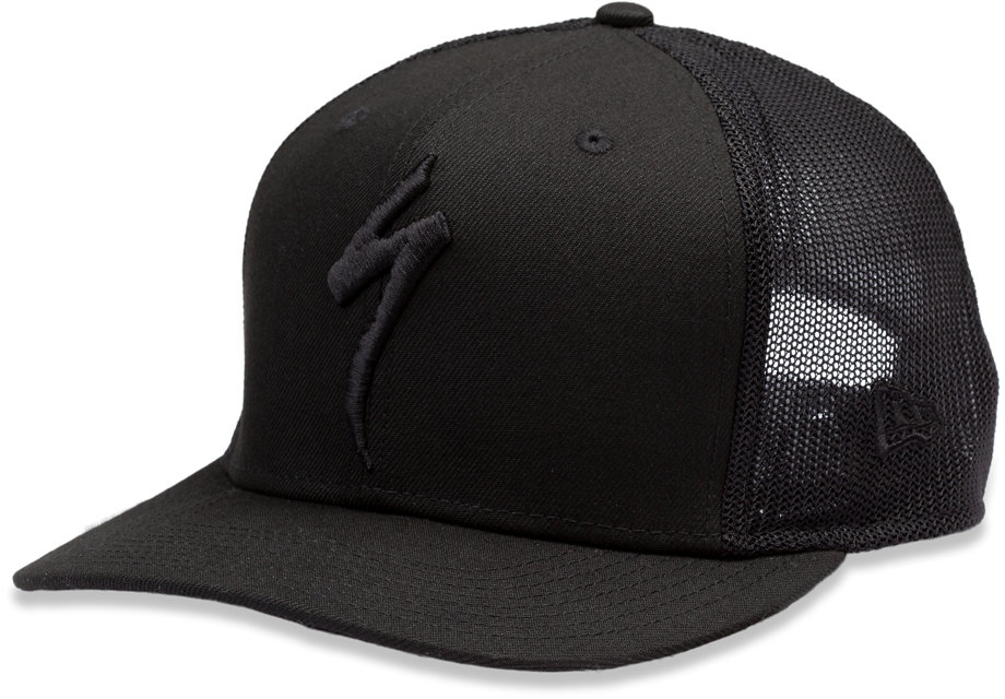 NEW ERA TRUCKER HAT S-LOGO BLK OSFA